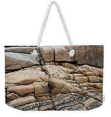 Pink Granite And Driftwood At Schoodic Peninsula In Maine  -4672 Weekender Tote Bag