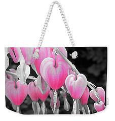 Pink Hearts Weekender Tote Bag