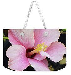 Pink Hibiscus Flower Weekender Tote Bag