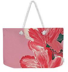 Pink Hibiscus Flowers  Weekender Tote Bag