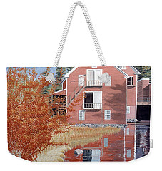 Pink House In Autumn Weekender Tote Bag