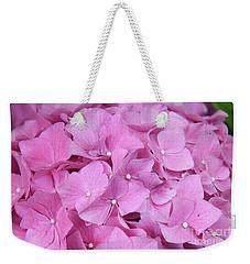 Pink Hydrangea Weekender Tote Bag by Elvira Ladocki