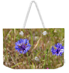 Weekender Tote Bag featuring the photograph Pink In Between by Marie Neder