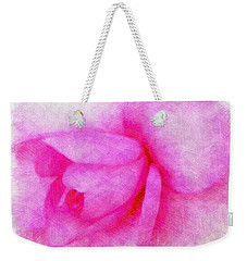 Weekender Tote Bag featuring the photograph Pink In Bloom by Cathy Harper