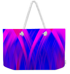 Pink Lacing Weekender Tote Bag by Carolyn Marshall