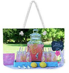 Pink Lemonade At Picnic In Park Weekender Tote Bag