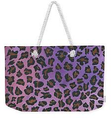 Pink Leopard Weekender Tote Bag
