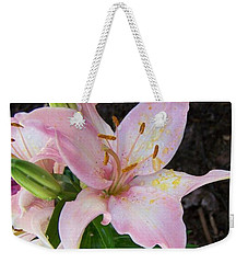 Weekender Tote Bag featuring the photograph Pink Lilly by Richard Ricci