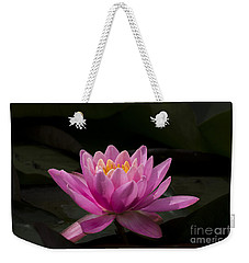 Weekender Tote Bag featuring the photograph Pink Lotus by Andrea Silies