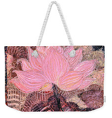 Pink Lotus Flower Weekender Tote Bag