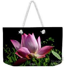 Pink Lotus  Weekender Tote Bag by Jeannie Rhode