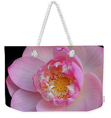 Pink Lotus Opening Weekender Tote Bag