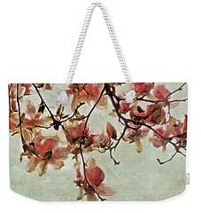 Pink Magnolia Blossoms Weekender Tote Bag
