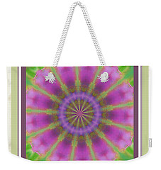 Weekender Tote Bag featuring the photograph Pink Mandala Bloom by Shirley Moravec