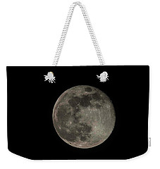 Weekender Tote Bag featuring the photograph Pink Moon by David Bearden