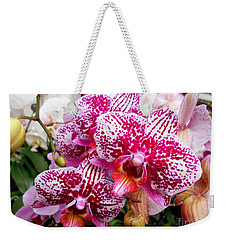 Pink Moth Orchids Weekender Tote Bag