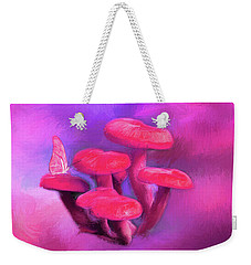Pink Mushrooms Weekender Tote Bag