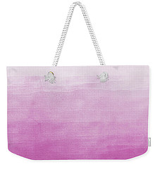 Pink Ombre Watercolor Weekender Tote Bag by P S