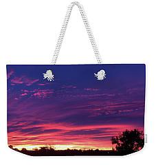 Pink On Blue Weekender Tote Bag