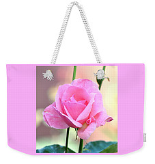 Pink On Pink Rose Weekender Tote Bag