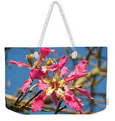 Pink Orchid Tree Weekender Tote Bag