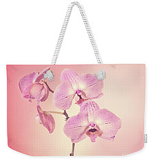 Pink Orchids 2 Weekender Tote Bag by Linda Phelps