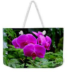Pink Orchids Weekender Tote Bag by Mini Arora