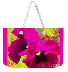 Pink Pansies Weekender Tote Bag