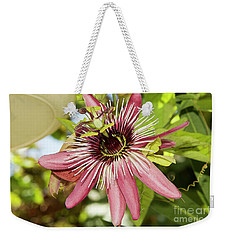 Pink Passiflora Weekender Tote Bag by Elvira Ladocki