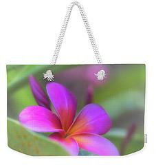 Pink Peekaboo Plumeria Weekender Tote Bag