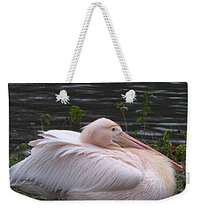 Pink Pelican Weekender Tote Bag by Margaret Brooks