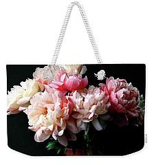Pink Peonies In Pink Vase Weekender Tote Bag