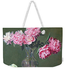 Pink Peonies Walking The Plank Weekender Tote Bag