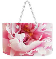 Pink Peony 2 Weekender Tote Bag by Elena Nosyreva
