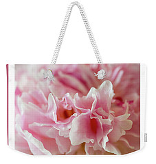 Weekender Tote Bag featuring the photograph Pink Perfection by Wendy Wilton
