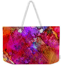 Pink Petals II Weekender Tote Bag by Angela L Walker
