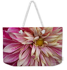 Pink Petals With Raindrops Weekender Tote Bag by Patricia Strand