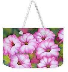 Pink Petunias Weekender Tote Bag