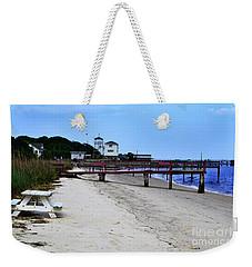 Pink Pier Southport, North Carolina Weekender Tote Bag