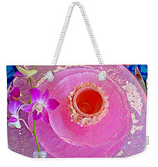 Pink Place Setting Weekender Tote Bag