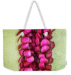 Pink Plumeria Lei Weekender Tote Bag