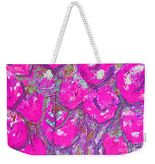 Pink Poppies Weekender Tote Bag