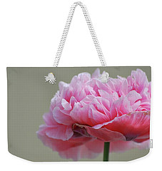 Weekender Tote Bag featuring the photograph Pink Poppy by Amee Cave