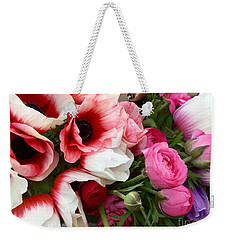 Pink Poppy Anemone Flowers At The Farmers Market Weekender Tote Bag