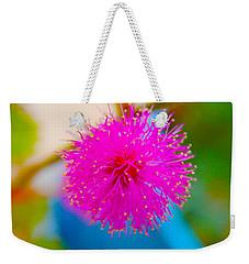 Pink Puff Flower Weekender Tote Bag