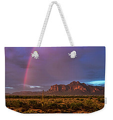 Weekender Tote Bag featuring the photograph Pink Rainbow  by Saija Lehtonen