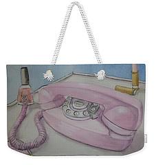 Pink Retro 1960 Telephone Weekender Tote Bag