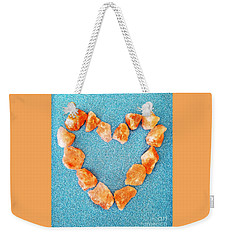 Pink Rocks Heart Weekender Tote Bag