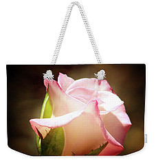 Pink Rose 2 Weekender Tote Bag by Inspirational Photo Creations Audrey Woods