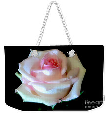 Pink Rose Bud Weekender Tote Bag by Jeannie Rhode
